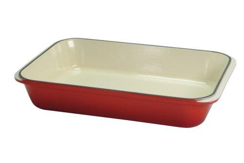 Chasseur Cast Iron 32.5 x 21.5 x 5.5 cm Chilli Red Roasting Dish