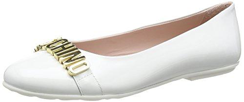 Moschino25555.0 - Ballerine Bambina , Bianco (Bianco (Weiss)), 34