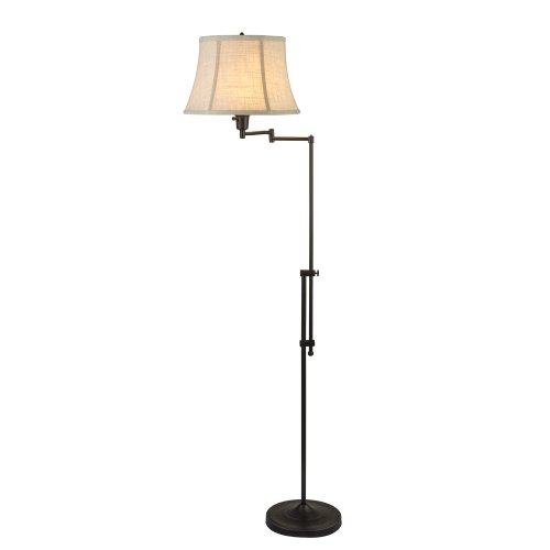 Fangio Lighting 1419Mb 44.5-55-Inch Adjustable Swing Arm Metal Floor Lamp In, Madison Bronze front-94744