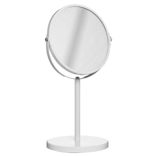 Pivotant Swivel White Table Mirror on portable stand