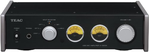 Teac AI501DAB Amplificatore Integrato con Ingresso Audio 192 kHz USB, Black