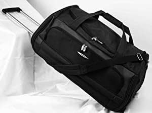 Jeep Wheeled Holdall 30 inch Luggage Bag on Wheels Black 970