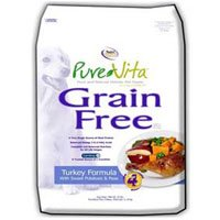Pure Vita Grain Free Turkey Dry Dog Food 5lb bag