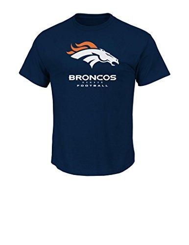 NFL Denver Broncos Mens UP4 Tee, Navy, X-Large
