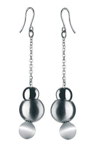 Breil - Orecchini pendenti da donna con quarzo, acciaio inossidabile, 75 mm, cod. TJ0917