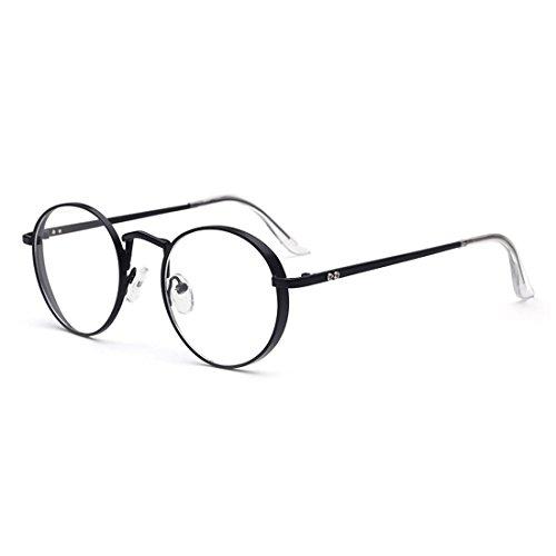 dking-oversized-metal-frame-clear-lens-round-prescription-eyeglasses-frames-black