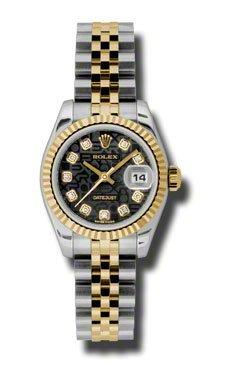 Rolex 179173 Lady Dayjust-18K yellow gold Jubilee bracelet