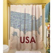 Thumbprintz Shower Curtain, Usa front-738216