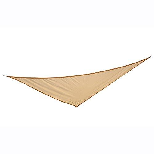Homcom - Toldo vela color arena sombrilla parasol triangulo hdpe 160g/m2 jardin playa camping sombra (varios colores y medidas), medida 5x5x5 metros, color arena
