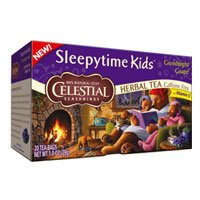 Celestial Seasonings Herbal Tea Sleepytime Kids Goodnight Grape, Goodnight Grape 20 bag(case of 6) (Pack of 3)