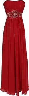 Strapless Chiffon Goddess Long Gown Prom Dress Formal Bridesmaid