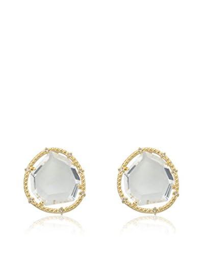Riccova Sliced Glass Earrings with CZs
