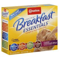 Carnation Instant Breakfast Essentials Complete Nutritional Drink, Classic Chocolate Malt, 12.6 oz, (pack of 3)