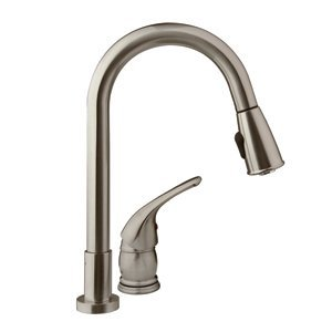 Dura Faucet Pull-Down RV Kitchen Faucet with Side Lever - For RV's, Motorhomes, 5th Wheels, Travel Trailers, and Towables - Lifetime Warranty
