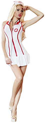 Sexy Head Nurse Costume Uniform Fancy Dress Outfit