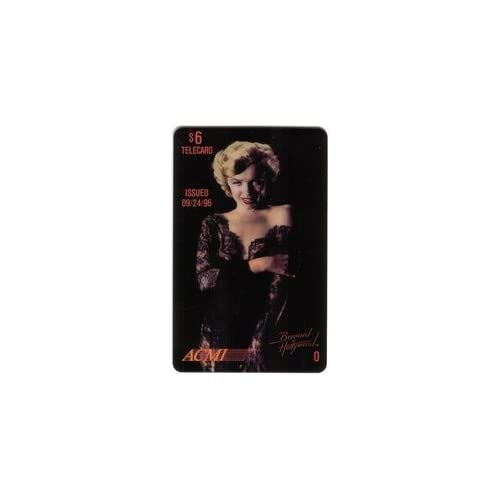 Marilyn Collectible Phone Card $6. Marilyn Monroe (Black Lace Dress   O) Issued 9/24/96