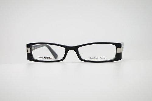 (Emporio Armani) EMPORIO ARMANI Black Silver glasses frame glass...