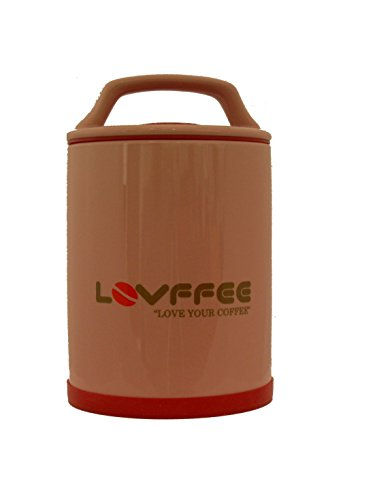Lovffee Pink Ceramic Premium Coffee Container Holds 1 Pound Whole Coffee Beans Or Ground Coffee