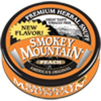 Smokey Mountain Snuff - Tobacco & Nicotine Free - Peach