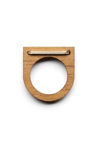 By Boe - Women's Wooden Strap Ring (Teak)