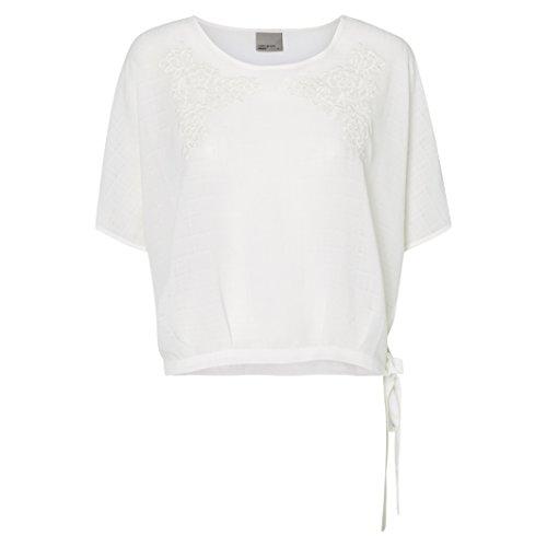 Vero Moda Donna Camicetta Cropped Flowerish Taglia 3 Bianco