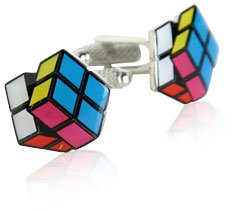 Rubik's Cube Cufflinks by Cuff-Daddy