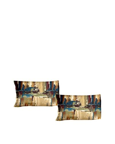 FOOL COLORS by MANIFATTURE COTONIERE Set Funda De Almohada 2 Uds. Labyrinth