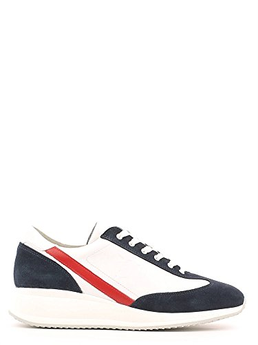 Trussardi Jeans 77S073 Sneakers Uomo Pelle Blu/Bianco Blu/Bianco 40
