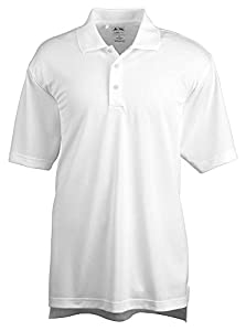 Adidas Golf Men's Climalite Basic Performance Polo Shirt, Wht, Medium