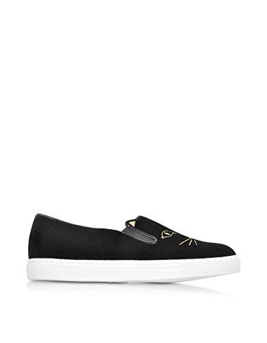 charlotte-olympia-womens-v001234001-black-velvet-slip-on-sneakers