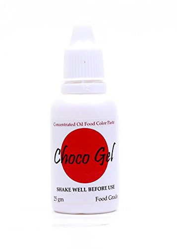 Sugarin Candy Color Choco Gel For Chocolate And Oil Based Products, Red, 25 Grams