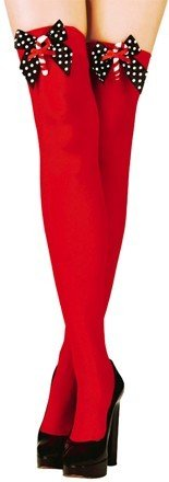 Red Christmas Stockings with Bows