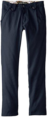 Eddie Bauer Big Girls' Brushed Twill Skinny Pant, Navy, 10