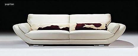 Calia Maddalena - Fauteuil 140x82x90cm pour Canapé contemporain accueillant Papillon, Tissu Microfibre Beige
