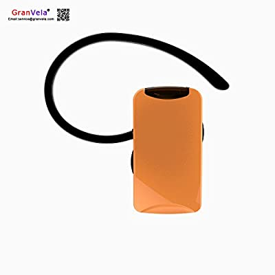 GranVela Q3 Smallest Mini Bluetooth Headset Earphone Earpiece Headphones, Wireless Bluetooth V4.1 In Ear Earbud/Earpiece Earphone Headphone Headset w/Mic Support Stream Music/Video/Audio, for iPhone, Android-Orange