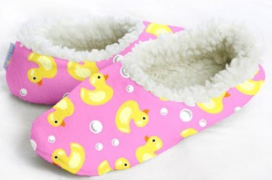 """Cheap SNOOZIES PINK Duckies FOOT COVERINGS – """"NOT A SLIPPER!"""" **EXTRA LARGE** (B008LOC45G)"""