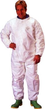 Tyvek Saranex Coverall With Elastic Wrists And Ankles (12 Per Case) Size Large