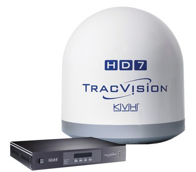 """Tracvision Hd7 N. America, 28"""" Dome, Mfg# 01-0323-01Sl, 24"""" Dish, Tracks Directv Sats 93, 101 & 103 Simultaneously, Operates In Ku & Ka Bands For Full Hd Coverage. 28""""H X 28"""" Dia. Can Handle Up To 8 Receivers Or 4 Dvrs. Acu And 100' Cables Included."""