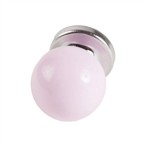 West5Products 2x Round Baby Pink Pastel Coloured Acrylic Drawer Knob by West5Products (Pastel Drawer Knobs compare prices)