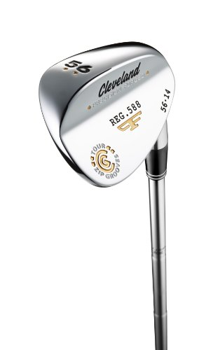 Cleveland Golf Men's 588 Forged Chrome Wedge, High Bounce (Right-Handed, 56 Degree, Steel Shaft)