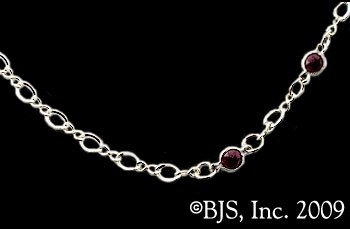Vampire's Kiss Choker Garnet Beads Necklace