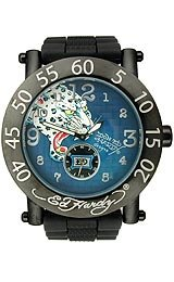 Ed Hardy Kordova Blue Woven Textured Dial Men's Watch #KO-PNT