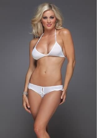 Amazon.com: Classic Bikini Top and Crotchless Panty Set (One Size