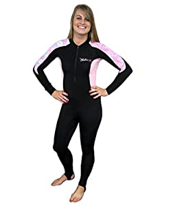 Buy Ladies 6 oz Lycra Skin Suit Warm Water Sun Protection, Full body Lycra, Rash Guard for Diving, Surfing, Surfing Rash... by Tilos