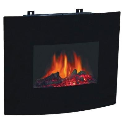 Decor flame 24 electric wall mount fireplace heater w for Decor flame electric fireplace