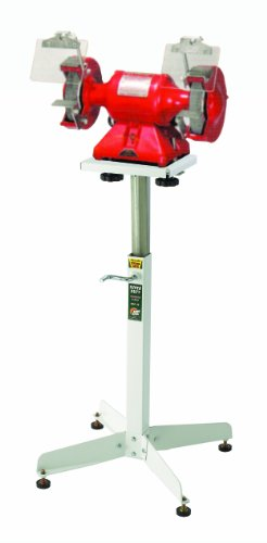 HTC HGP-10 Bench Top Grinder Stand, Adjustable Height