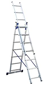 3teilige Aluminium Mehrzweck und Kombileiter 3 x 11 Stufen  BaumarktKritiken und weitere Informationen