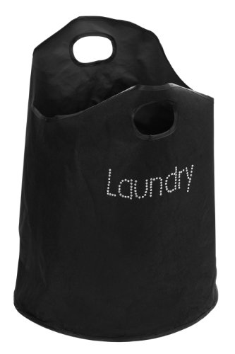 Premier Housewares Diamante Laundry Bag, Black