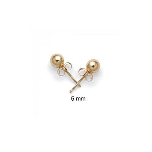 Bling Jewelry 14k Yellow Gold Ball Stud Earrings Children Bead Size 5mm