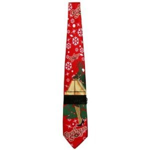 A Christmas Story Light up Leg Lamp Neck Tie with Christmas Tree